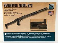 Remington Model 870 Shotgun 12 Gauge Firearms Atlas Photo Spec History Card