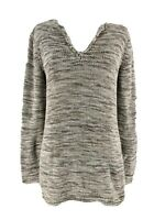 J. Jill Women's Tan Brown 100% Cotton Marled Split Neck Pullover Sweater Size XS
