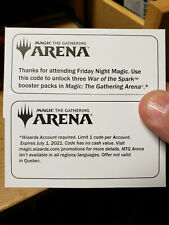 MTG Magic the Gathering Arena * War of the Spark * Unlock 3 Booster Packs Code