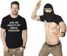 ASK ME ABOUT MY NINJA DISGUISE Men Kid Women Girl Casual Top Blouse Tee T-Shirt