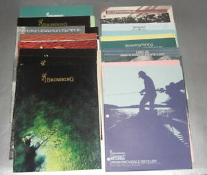 Large assortment of 20+ Browning fishing catalogs & price lists from 80's & 90's