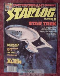 STARLOG August 1979 25 STAR TREK MIKE MINOR RAY BRADBURY ALIEN PINBALL Art