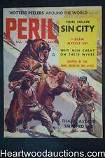 Peril Aug 1958 Giant Bear Attack Cvr, Tina Louise - Ultra High Grade- NAPA