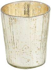 Portacandele in argento in vetro per la decorazione della casa