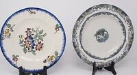 LONGWY CHINOIS & PRINTEMPS 2 ANTIQUE decorative PLATES Porcelain Made in France