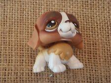 Littlest Pet Shop #229 St. Saint Bernard Tan White Brown Eyes