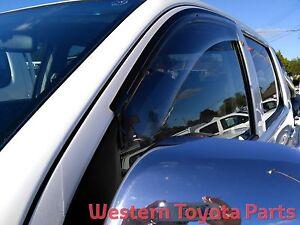 Toyota HILUX 2005 - 2015 GENUINE Weather shields Front Set