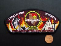 MIKANAKAWA LODGE OA 101 CIRCLE TEN COUNCIL TX MERGED 209 56 PATCH 2009 NOAC FLAP