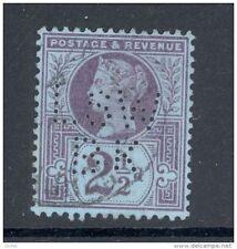 GB, Victoria  2½d  with perfin   L S W B K   (D)