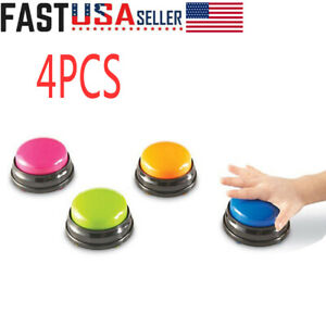 Yes Answer Button Set of 4 No Button Pet Talking Button Talking Button Sound Button Answer Buzzers Wrong Answer Buzzer Button Buzzer Dog Buttons for Communication Learning Buzzers