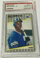 1989 FLEER KEN GRIFFEY JR. #548 RARE ROOKIE CARD RC PSA 8 NM-MINT (DR)
