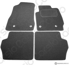 Mazda 2 2007 - 2015 Tailored Black Car Floor Mats Carpets 4 piece Set 4 Clips
