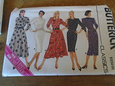 """PATRON """"BUTTERICK 5 VERSIONS ROBE DROITE EVASEE  TAILLE 40/42/44  N° 4107"""