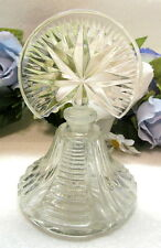 Art Deco Crystal Perfume Bottle With Fan Top And Star Design #6