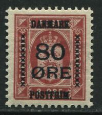 Denmark 1915 80 ore overprinted on 8 ore mint o.g. hinged