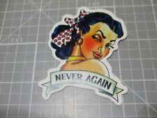 NEVER AGAIN WINK GIRL Sticker Bumper Stickers Bombit Skate/Laptop NEW