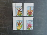1990 GRENADA ORCHID EXPO '90 SET 4 MINT STAMPS MNH