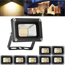 New listing 8X 10W Led Flood Light Warm White Outdoor Lighting Landscape Spotlights Dc12V