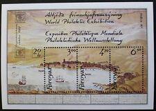 """Hafnia 87"" international stamp exhibition stamp sheet, 1986, Faroe Islands, MNH"