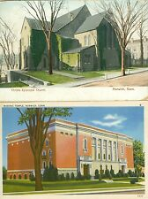 Norwich CT Lot of 2 The Christs Episcopal Church & Masonic Temple