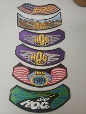 Vintage Harley Davidson Motorcycle Hog Members Patches Ride Biker Set Lot Of 6