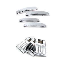 IPOP Car Slim Door Edge Guards Bumper Protector Guard Chrome Vehicle Silver 4pcs