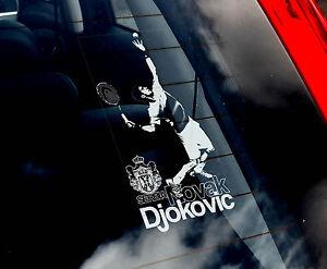 Novak Djokovic - Tennis Car Window Sticker - Champion, Serbia