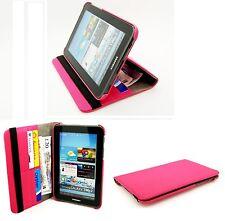 ELEGANT MATT tessile Rotazione Custodia Cover Samsung GT-P3100 Galaxy Tab 2-Rosa