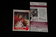 HOF BOBBY CLARKE 1992 FUTURE TRENDS SIGNED AUTOGRAPHED CARD #177 JSA CERTIFIED
