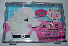 """Interchangeable PET COLLAR SET - 1 Collar & 4 Charms - Dog or Cat  7"""" - 10"""" Neck"""