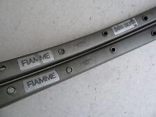 Fiamme Hard Silver rims, pair, 32 hole, tubular, hard anodized