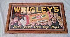Vintage WRIGLEYS Sugar coated Peppermint GUM ADVERTISING NIPS framed