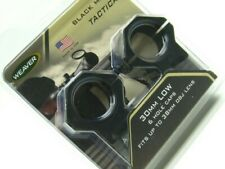 Weaver 48355 Matte Black Aluminum 6 Hole Tactical 30mm Low Scope Ring Mount