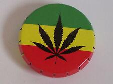 new air tight click clack tin Jamaica cannabis leaf tobacco stash pills ashtray