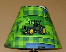John Deere lamp shade fabric tractor farming Handmade Desk Table