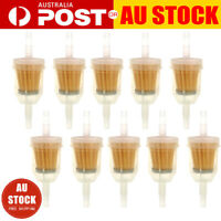 """10X Inline Gas Petrol Fuel Filter 1/4"""" 5/16"""" Pipe Motorcycle Dirt Quad Tools AU"""