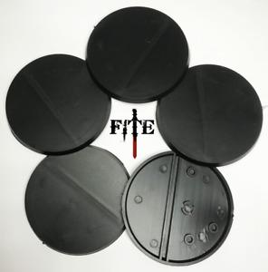 60mm round plastic bases for Infinity Warhammer 40k black base RPG *BRAND NEW*