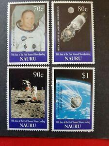 Nauru - 1999 - Sc 465 - 68 - 30Th Anniv. of Moon Landing VF MNH cv=US$6.25