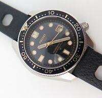 .Rare Vintage 1969 Seiko 300m High Beat 36000 Steel Mens Diver Watch 6159 7001