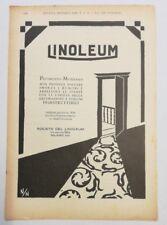 Pubblicità 1929 LINOLEUM PAVIMENTO MILANO advertising publicitè werbung reklame