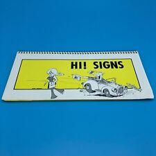 Hi! Signs 1970s flash card swinger retro car trip fun cheesy bachelor party
