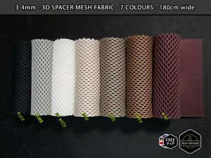 4mm* THICK - 3D Spacer Mesh Fabric - UPHOLSTERY, PADDING & MORE - 180cm wide