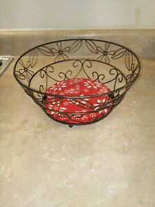 Temptations Wire Basket With Ceramic Removable Bottom