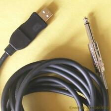 ELECTRIC GUITAR TO PC CABLE LEAD USB INTERFACE WINDOWS OR MAC AUDIO DEVICE