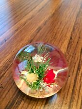"""""""Botanical Gems"""" Lucite Paperweight by Peeties Creations Ark. Gorgeous Flowers!"""