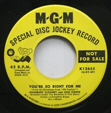 50'S & 60'S Promo 45 Rosemary Clooney And Jose Ferrer - You'Re So Right For Me /
