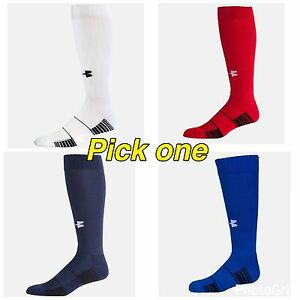 NWT Under Armour Boy's Youth UA Over the Calf Team Socks YLG Pick Colors