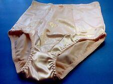 Women Panties,Briefs,Control Panties Ann Diane Size 3XL Beige Satin