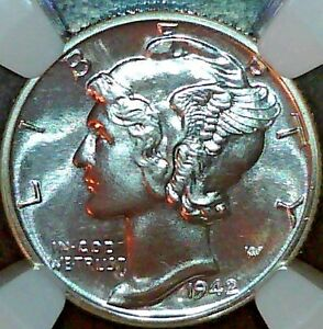 1942 Mercury Dime Proof NGC PF 67 CAC