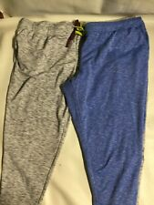 Lot Of 2 Everlast Women's Size 3X Grey Blue Sweatpants Pull String At Waist. L44